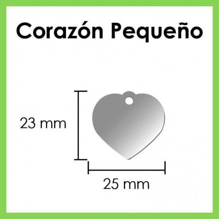 Plaquita De Identificación Del Perro Corazón Pequeño