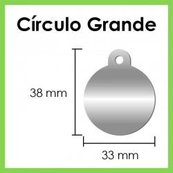 Círculo Grande Plateado