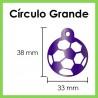 Círculo Grande Con Diseño De Bola De Fútbol